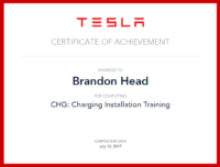 Brandon Head TESLA Cert