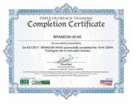 Brandon Head OSHA