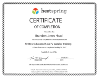 Brandon Head PV Install