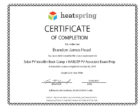 Brandon Head Installer Bootcamp