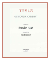 Brandon Head TESLA Electrictian