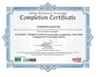 Roberto Santos OSHA