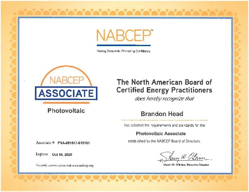 Certificates Advance Solar And Spa
