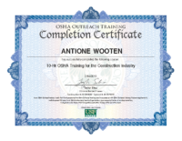 Antione Certificate_Osha