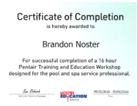Brandon Pentair Cert