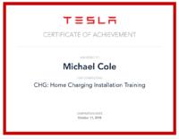Michael Cole Tesla Cert 1
