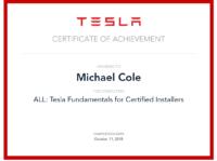 Michael Cole Tesla Cert 2