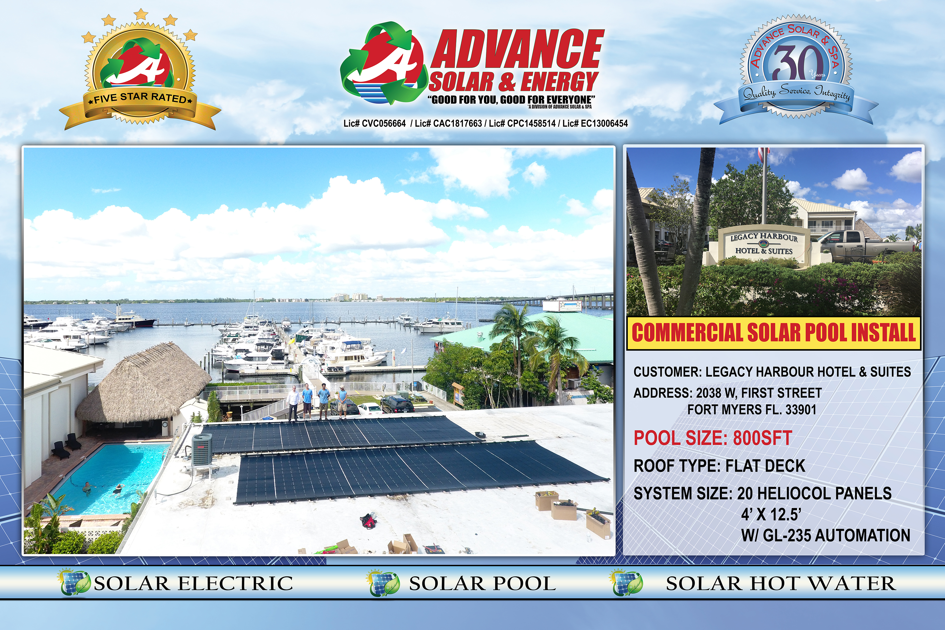 Advance Solar Energy Contractor Fort Myers Replacing A Pool Light From The Deck Electrical Online At We Have Been Providing Services Such As Heating Electric Hot Water And Other Spa Needs Since 1983