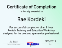 Pentair Certificates-04