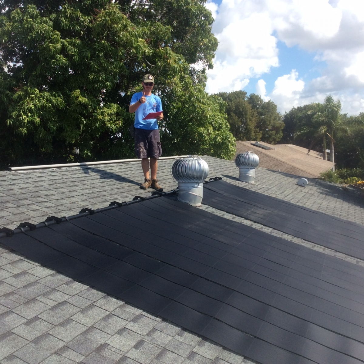 Town And River , Fort Myers Pool Solar Install